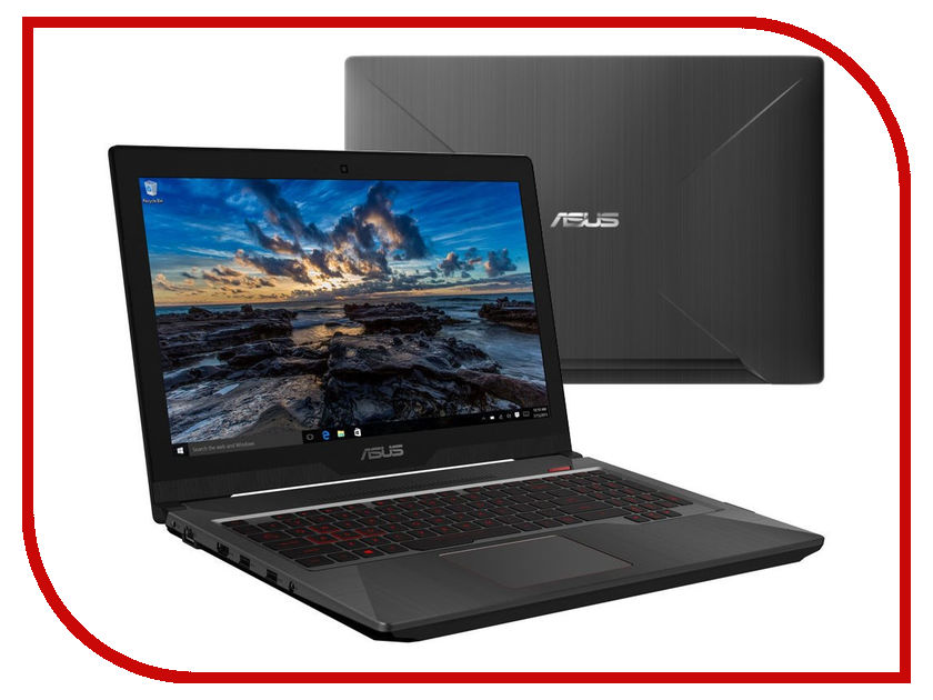 Ноутбук ASUS ROG FX503VD-E4047T 90NR0GN1-M07670 (Intel Core i7-7700HQ 2.8 GHz/8192Mb/1000Gb + 128Gb SSD/No ODD/nVidia GeForce GTX 1050 4096Mb/Wi-Fi/Cam/15.6/1920x1080/Windows 10 64-bit) ноутбук asus rog gl553ve fy200t 90nb0dx3 m02800 intel core i7 7700hq 2 8 ghz 12288mb 1000gb 256gb ssd dvd rw nvidia geforce gtx 1050ti 4096mb wi fi cam 15 6 1920x1080 windows 10 64 bit