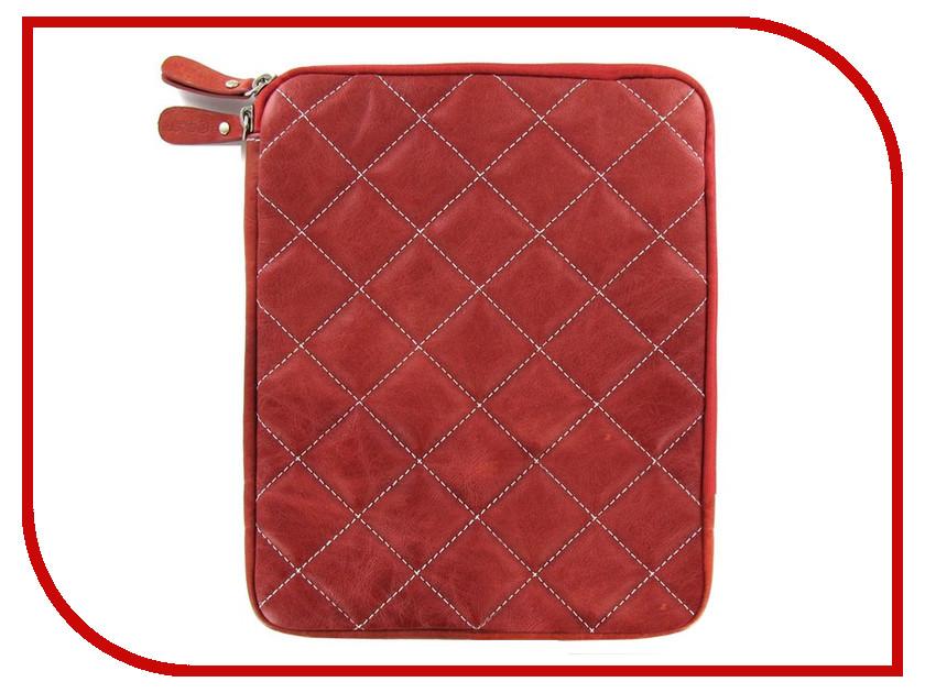 Аксессуар Чехол Krutoff Clever Rombo Series для APPLE iPad 2 Red 21380
