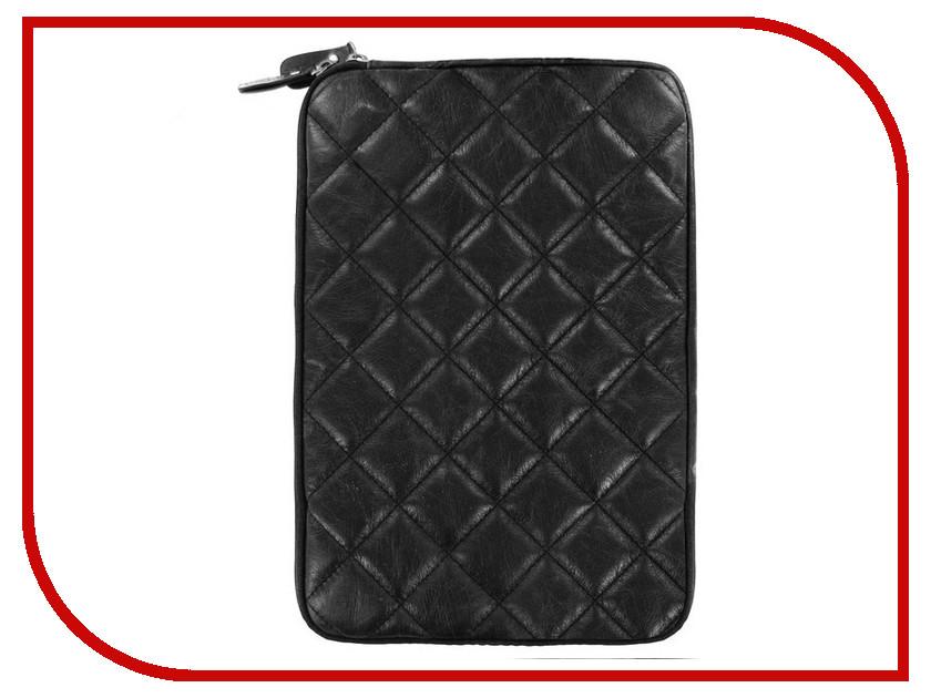 Аксессуар Чехол Krutoff Clever Rombo Series для APPLE Macbook Air 11.6-inch Black 21378