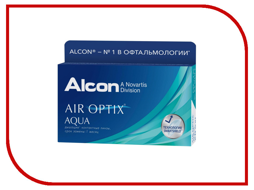 Контактные линзы Alcon Air Optix Aqua (6 линз / 8.6 / -4)