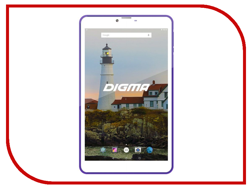 Планшет Digma Plane 8540E 4G Purple/White PS8156ML (Mediatek MT8735 1.0 GHz/2048Mb/16Gb/GPS/3G/Wi-Fi/Bluetooth/Cam/8.0/1280x800/Android)