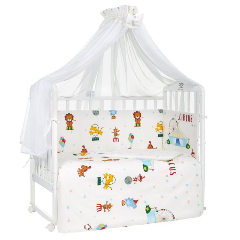 купить Комплект Sweet Baby Circo Сатин Avorio 412841 milc 7 предметов по цене 2923 рублей