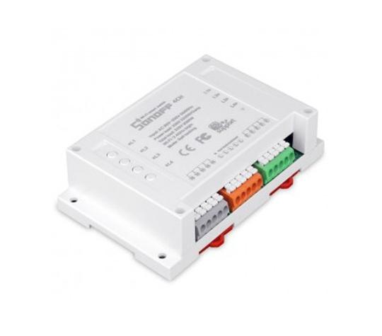 Реле контроля напряжения Sonoff 4CH водонепроницаемый бокс sonoff waterproof case ip66