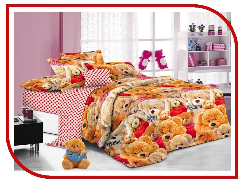 Постельное белье Sweet Baby Grande Cuore Комплект 1.5 спальный Поплин 412625 roman baby на кроватку cuore di mamma розовая