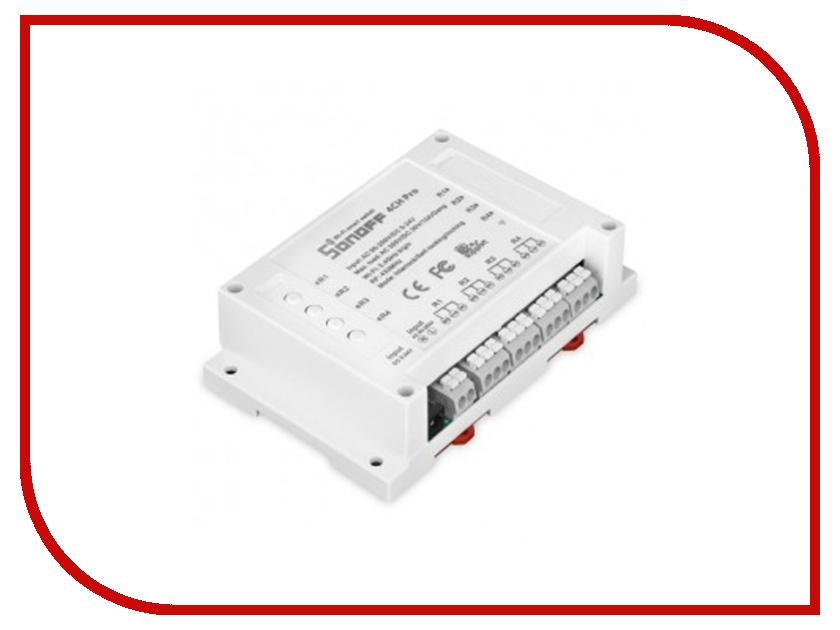 Реле контроля напряжения Sonoff 4CH Pro пульт ду sonoff