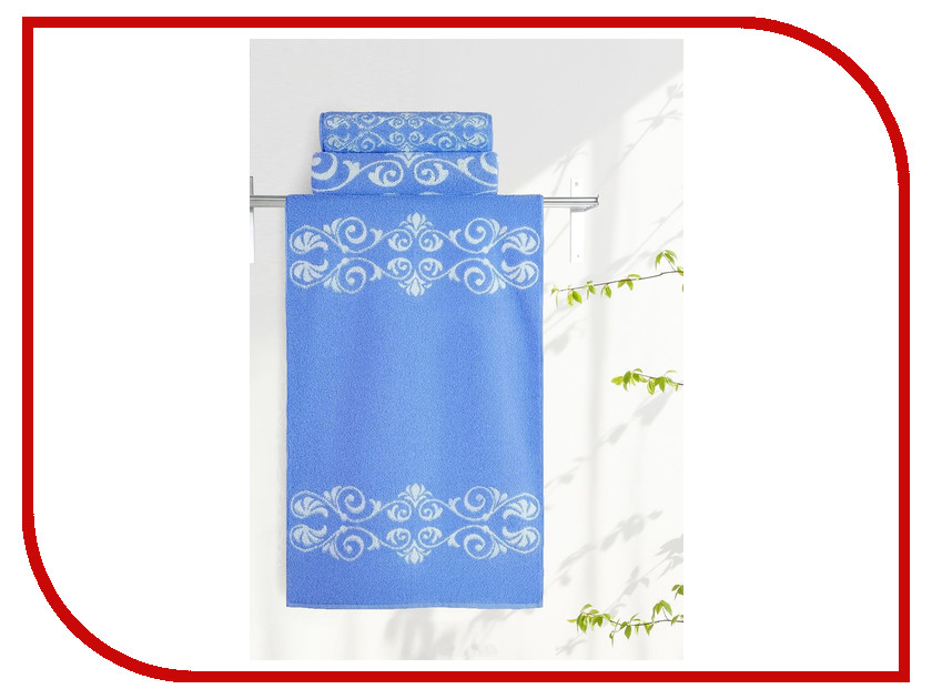 Фото Полотенце Aquarelle Шарлиз 50x90cm White-Blue 705991