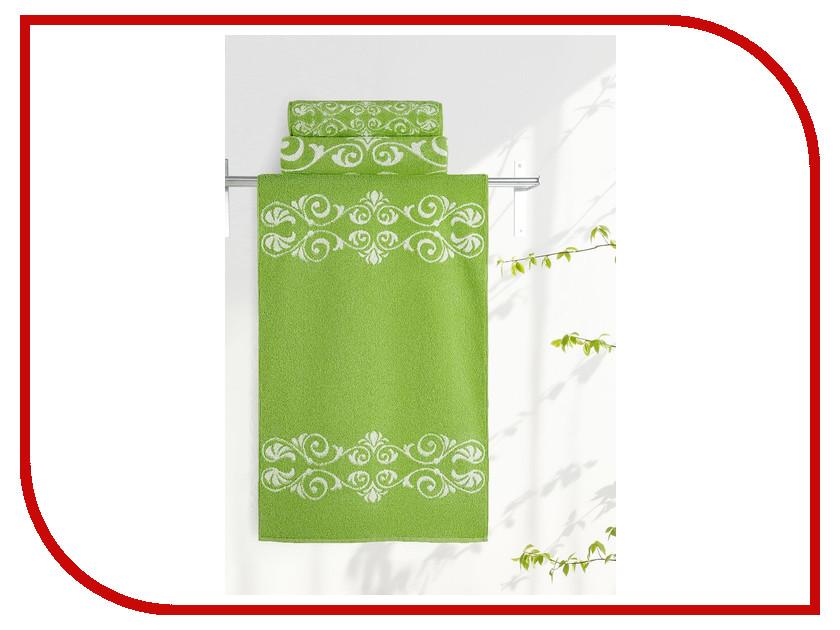 Полотенце Aquarelle Шарлиз 50x90cm White-Green 705992 полотенце махр aquarelle шарлиз 70х140см синее