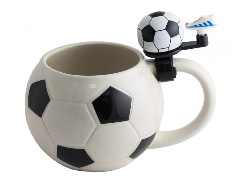 Кружка Эврика Футбол с звонком 98258