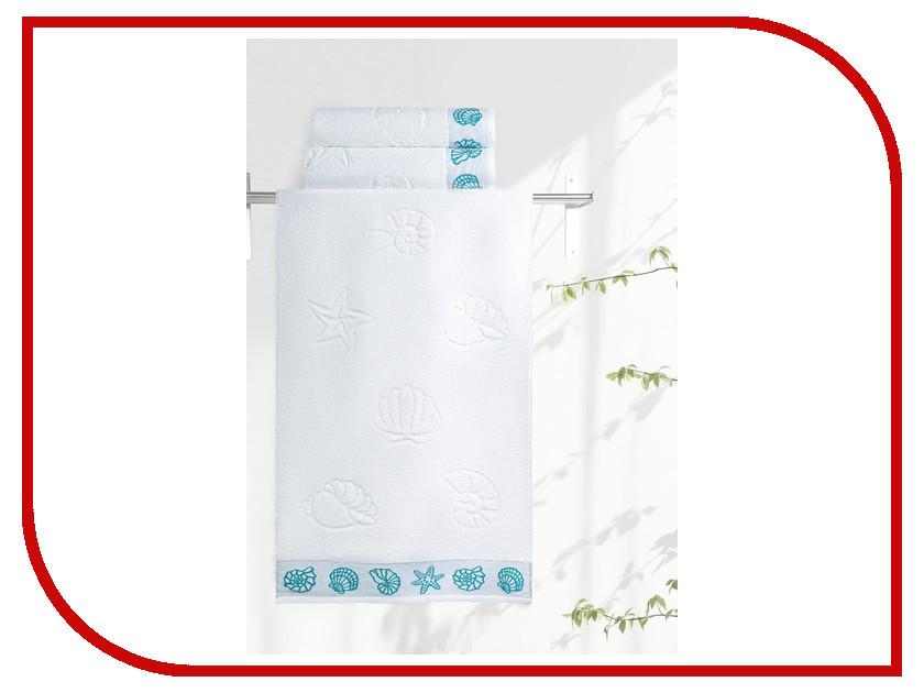 Полотенце Aquarelle Ракушки 70x140cm White 708913 полотенце aquarelle стамбул 70x140cm white blue 710397