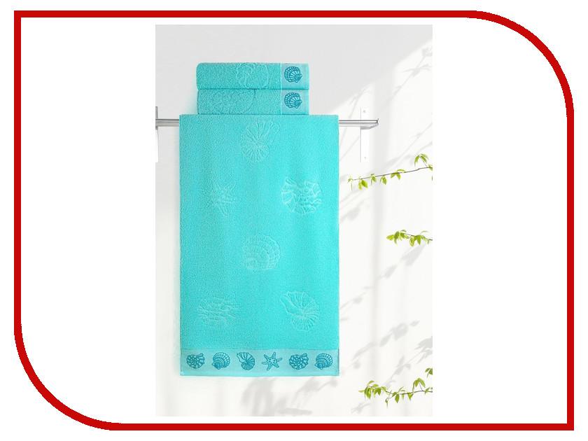 Полотенце Aquarelle Ракушки 70x140cm Aqua 708912 полотенце aquarelle стамбул 70x140cm white blue 710397
