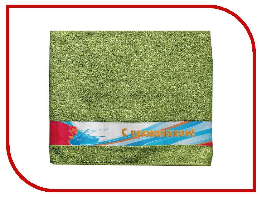 Полотенце Aquarelle С праздником 70x140cm Green 722716 полотенце aquarelle техника 70x140cm green 722709