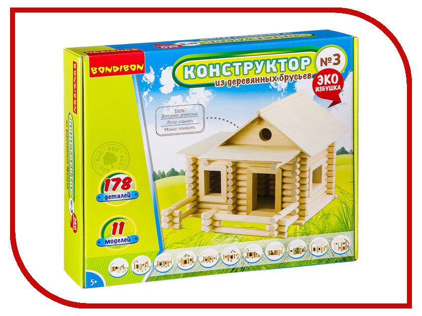 Фото - Конструктор Bondibon Конструктор из деревянных брусьев №3 BB2603 конструктор nd play автомобильный парк 265 608