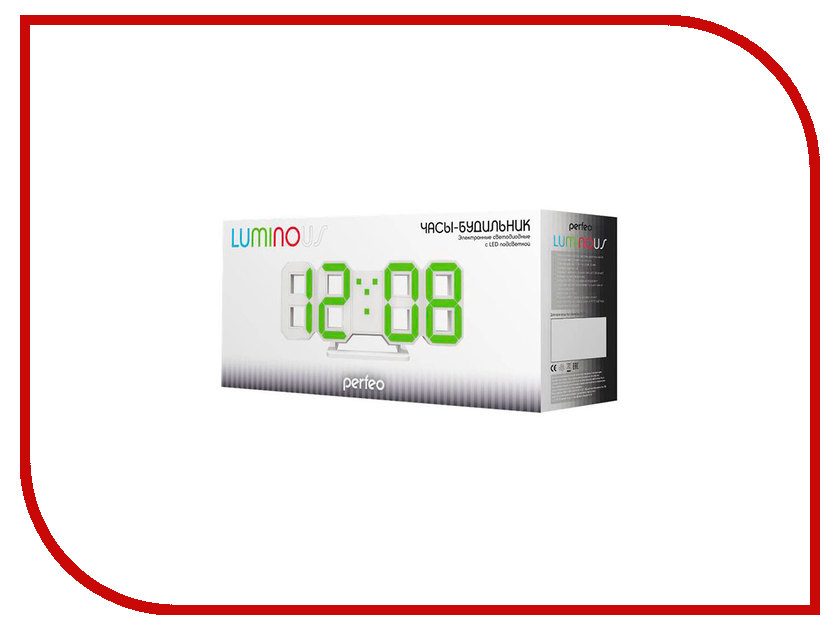 Часы Perfeo Luminous PF-663 White-Red perfeo fitness red black f fns red blk