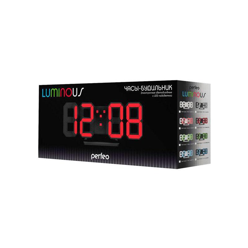 Часы Perfeo Luminous PF-663 Black-Green perfeo base pf bas vlt violet