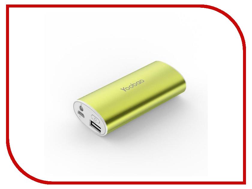 Аккумулятор Yoobao YB-6012 PRO 6200mAh Green аксессуар yoobao usb type c microusb lightning yb 453 gold