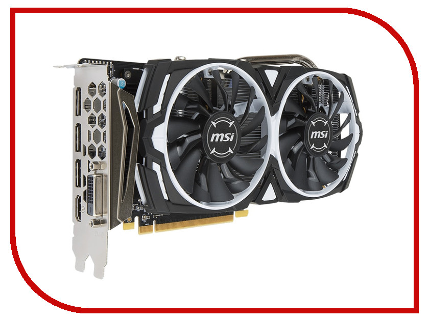 Видеокарта MSI Radeon RX 570 1244Mhz PCI-E 3.0 8192Mb 7000Mhz 256 bit DVI DP HDMI HDCP RX 570 ARMOR 8G видеокарта 6144mb msi geforce gtx 1060 gaming x 6g pci e 192bit gddr5 dvi hdmi dp hdcp retail