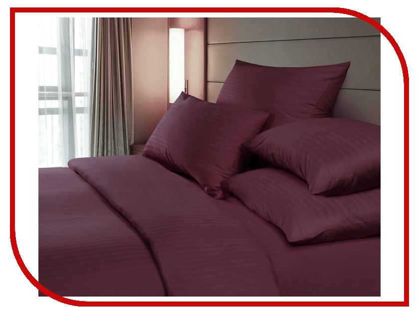 Постельное белье Verossa Комплект Семейный Страйп Bordo 719010 постельное белье seta постельное белье семейный
