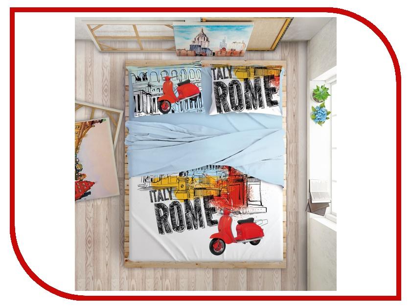 Постельное белье LOVE ME Holliday in Rome Комплект Евро Перкаль 711041 комплект постельного белья love me евро перкаль tropic 198862 711079