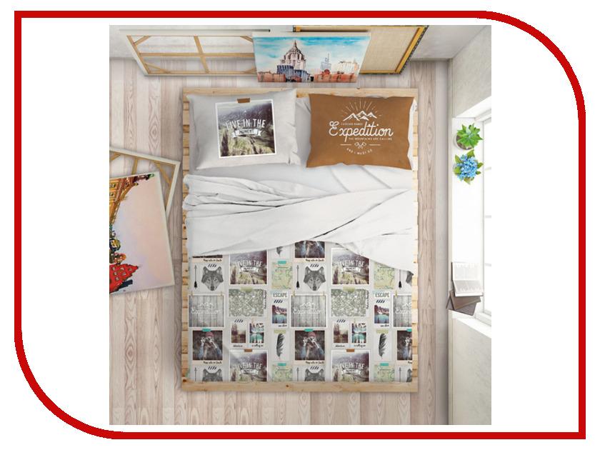 Постельное белье LOVE ME Traveler Комплект Евро Перкаль 711034 комплект постельного белья love me евро перкаль tropic 198862 711079