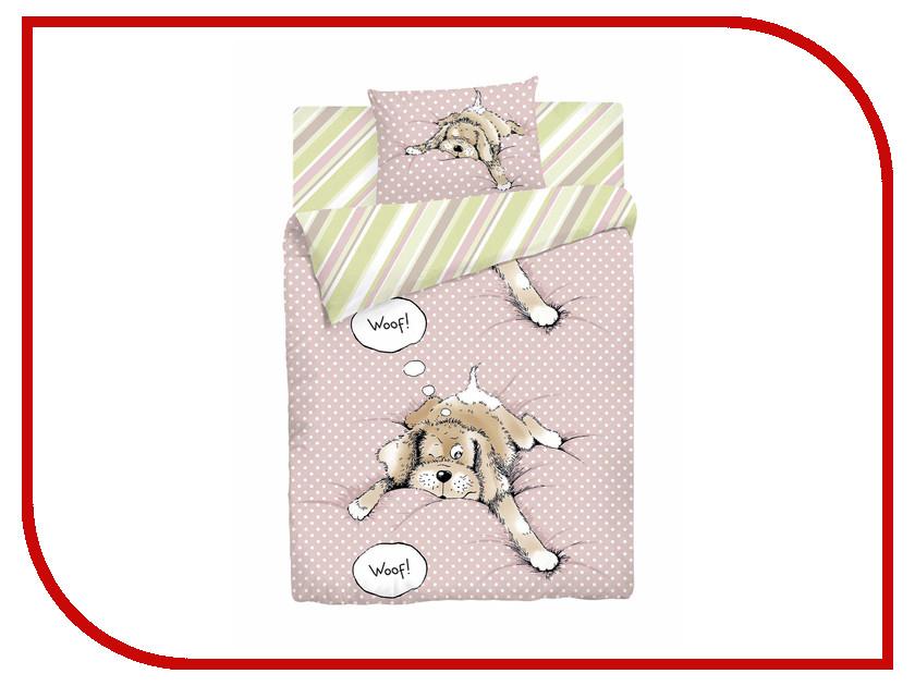 Постельное белье Мармелад Спящая собака Комплект 1.5 спальный Бязь 709998 гонг юань травяной чай мармелад мармелад сухой кусок бессемянное мармелад чай 120g банки
