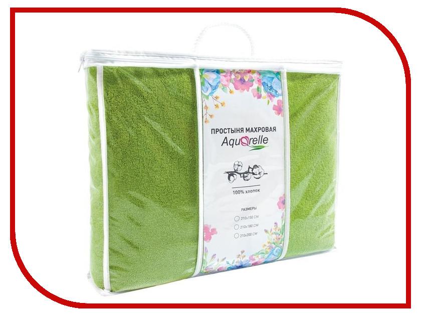 Простыня Aquarelle Комфорт 210x180 Green 716130 полотенца банные aquarelle полотенце aquarelle размер 70 140см серия таллин цвет ваниль