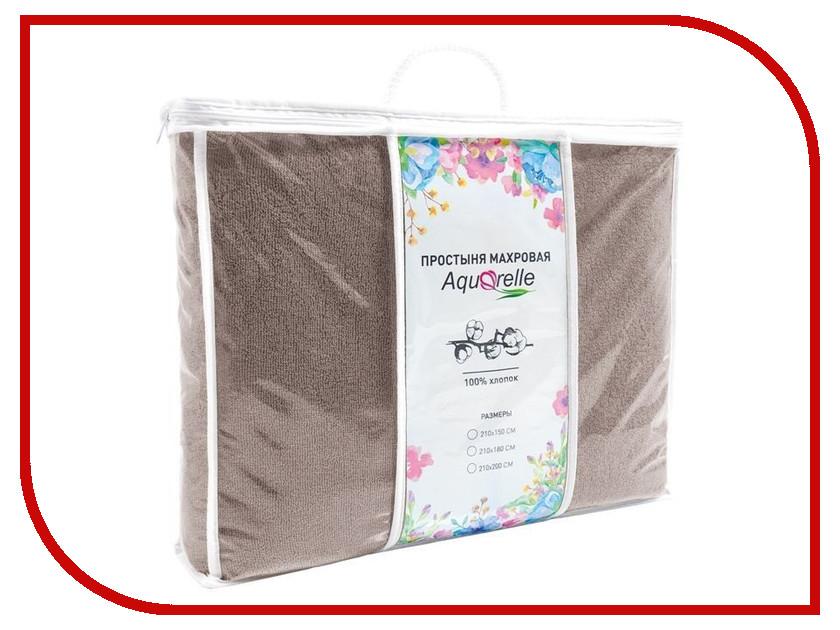 Простыня Aquarelle Комфорт 210x150 Mocha 716128 полотенца банные aquarelle полотенце aquarelle размер 70 140см серия таллин цвет ваниль