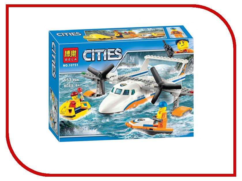 Конструктор Bela Cities Спасательный самолет береговой охраны 153 дет. 10751 конструктор самолет heros конструктор самолет