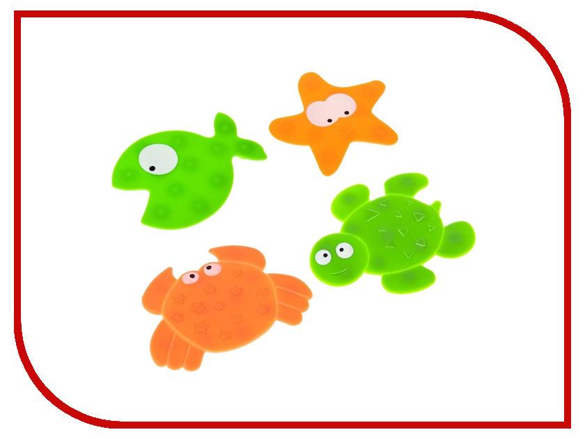 Коврик для купания Доляна Морские жители 4шт 1562695 игрушка munchkin морские животные 4шт 11103