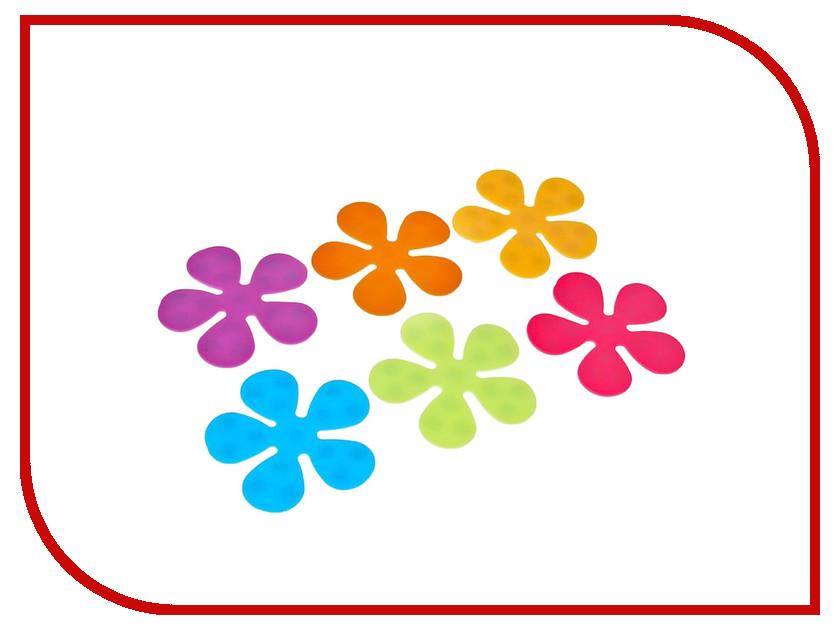 Коврик для купания Доляна Цветочек 6шт Микс 1406113