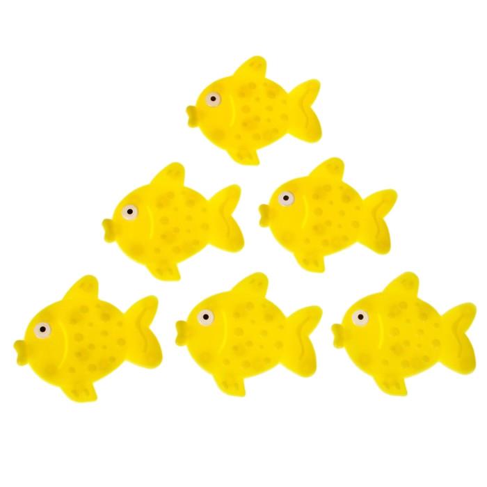 Коврик для купания Доляна Рыбка 6шт Микс 557222