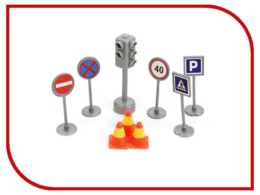 Технопарк Светофор + дорожные знаки SB-17-21-BLC ролевые игры нордпласт набор дорожные знаки 2 светофор 3 знака машинка нордик
