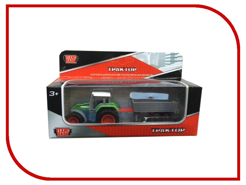 Игрушка Технопарк Трактор с прицепом 1801C-1BCD-R tongde технопарк в блистере трактор в72180