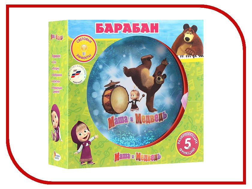 Детский музыкальный инструмент Играем вместе Барабан Маша и Медведь B672011-R2