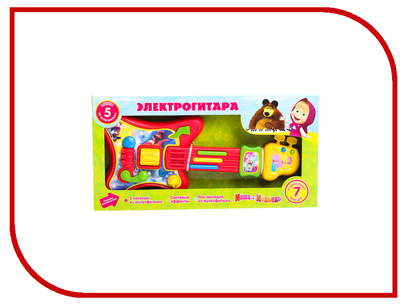 Детский музыкальный инструмент Играем вместе Электрогитара Маша и Медведь 9012-R музыкальный инструмент детский doremi синтезатор 37 клавиш с дисплеем