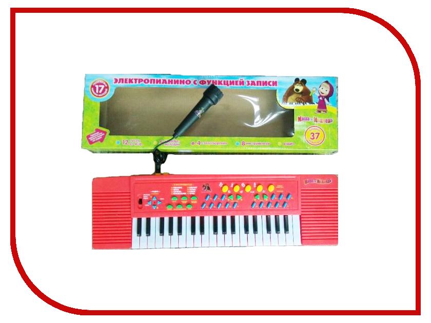 Детский музыкальный инструмент Играем вместе Электропианино Маша и Медведь MQ-002FM-R