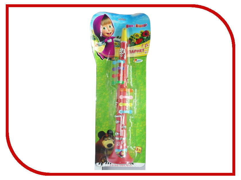 Детский музыкальный инструмент Играем вместе Кларнет Маша и Медведь 3001 B323586-R2