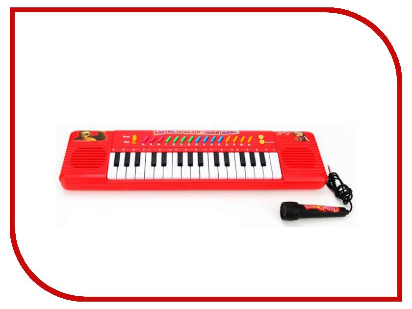 Детский музыкальный инструмент Играем вместе Электроорган Маша и Медведь B375978-R2
