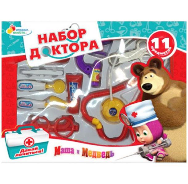 Набор доктора Играем вместе Маша и Медведь B907483-R набор оружия играем вместе набор оружия серебристый коричневый b437902 r
