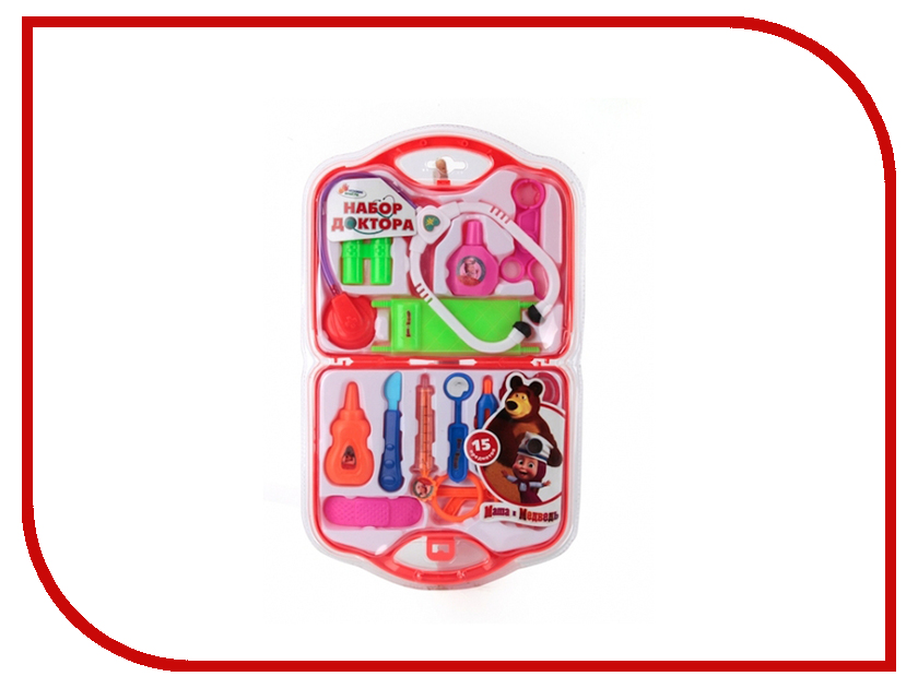 Игра Играем вместе Маша и Медведь Набор доктора B313764-R1 игра играем вместе набор полицейского b404508 r