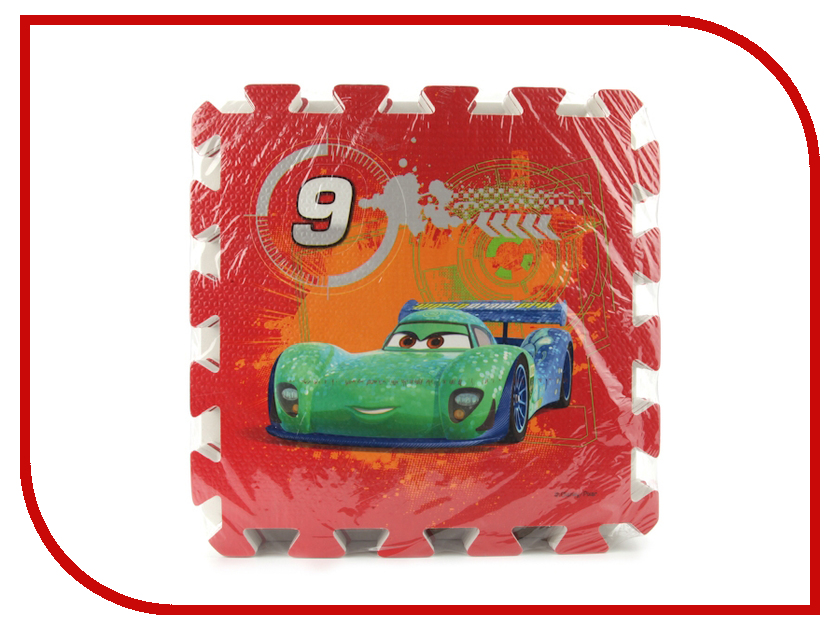 Развивающий коврик Играем вместе Тачки FS-NUM-04-CARS играем вместе пластилин в ведре тачки 7 цветов