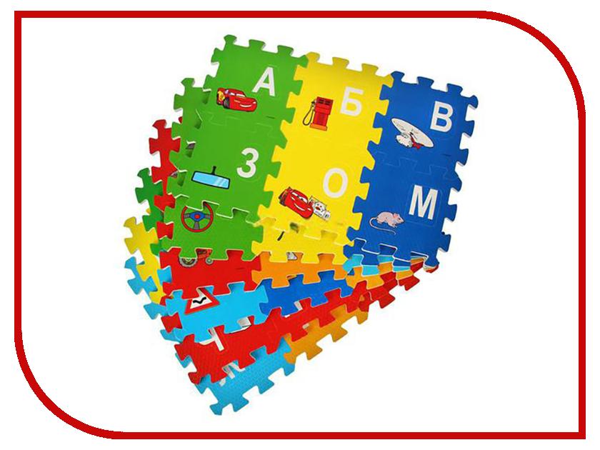 Развивающий коврик Играем вместе Тачки FS-ABC-04-CARS играем вместе пластилин в ведре тачки 7 цветов