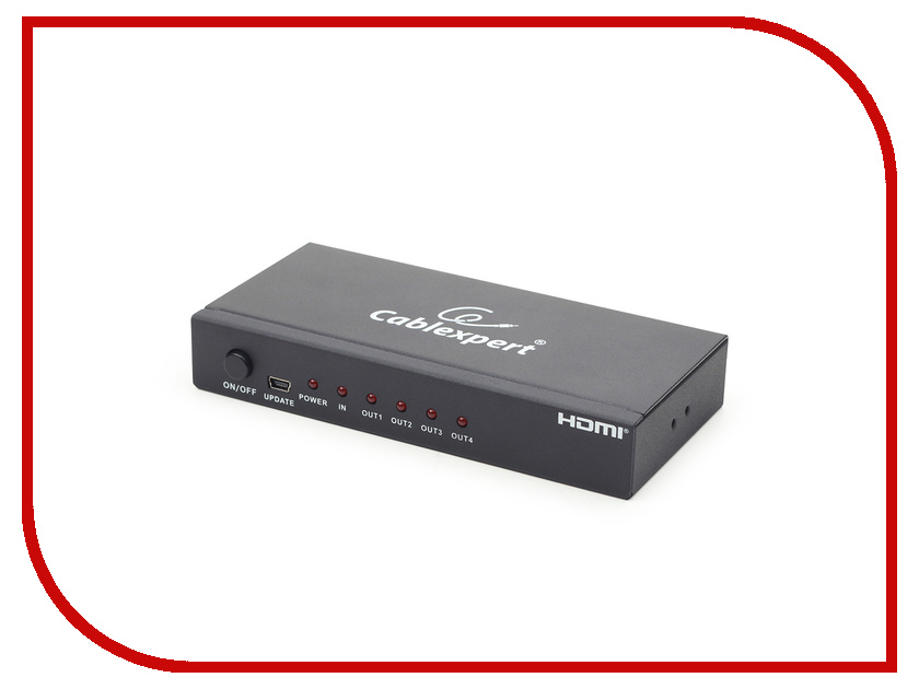 Сплиттер Gembird Cablexpert HDMI HD19F/4x19F DSP-4PH4-02 5v 8 channel relay module switch board for arduino avr pic arm dsp plc msp430