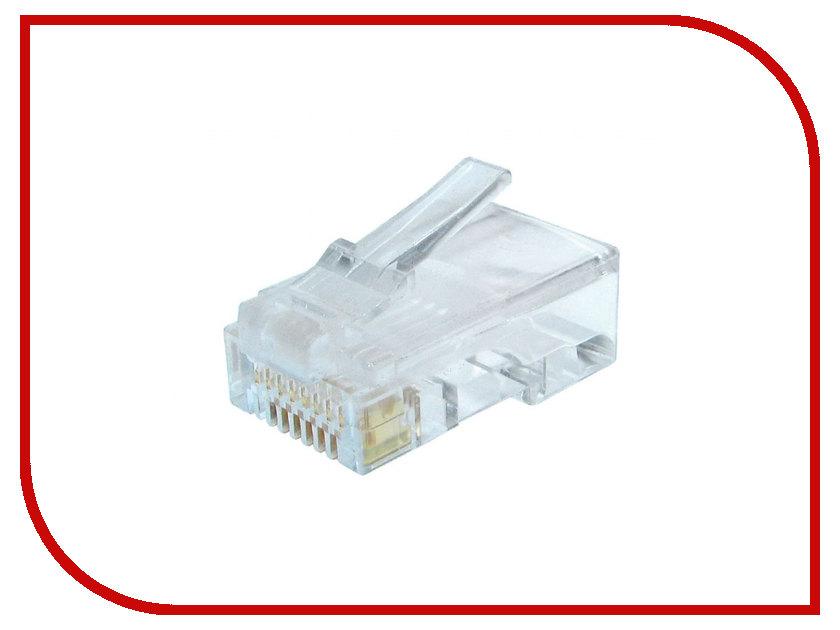 Коннектор Gembird RJ-45 8P8C cat.6 LC-8P8C-002 100шт cat 6 rj 45 network cable 5m