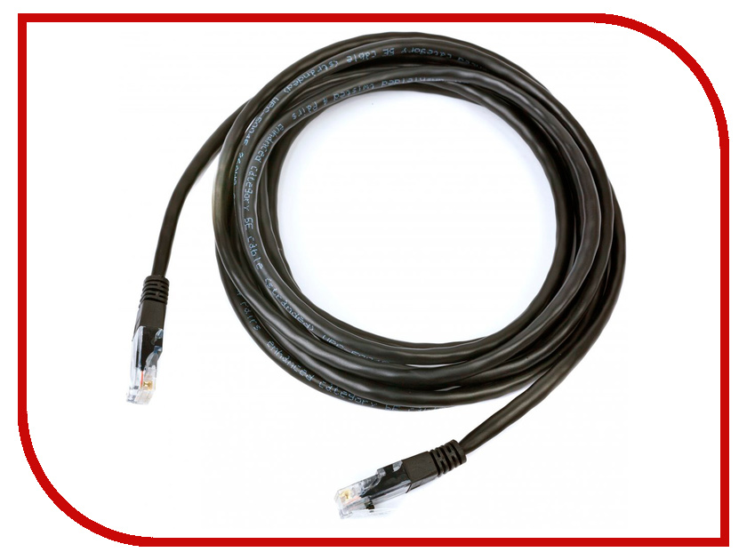Сетевой кабель Gembird TC6P4C-3M-BK 3m Black - телефонный