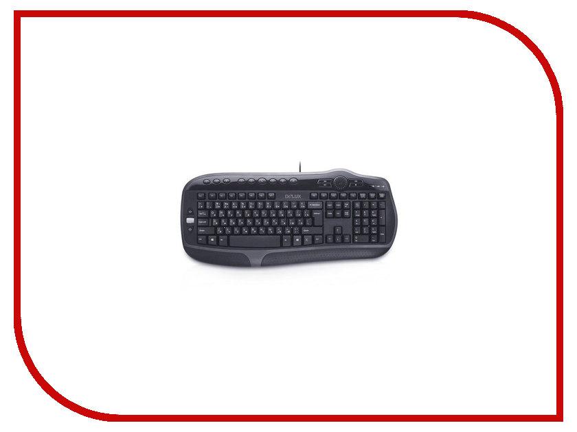 Клавиатура Delux DLK-9050UB Black USB delux