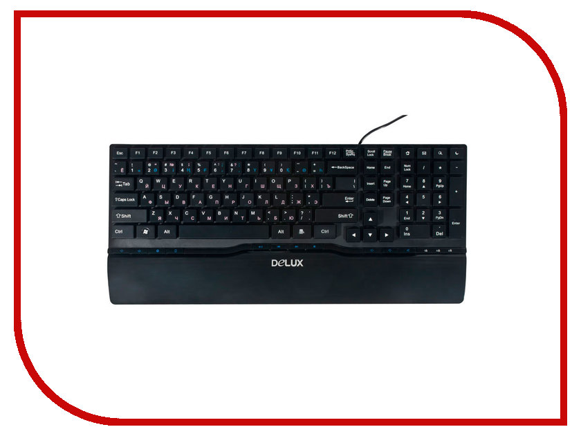 Клавиатура Delux DLK-1882UB Black USB