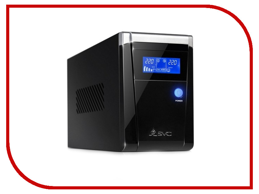 Источник бесперебойного питания SVC V-650-F-LCD 650BA/390W