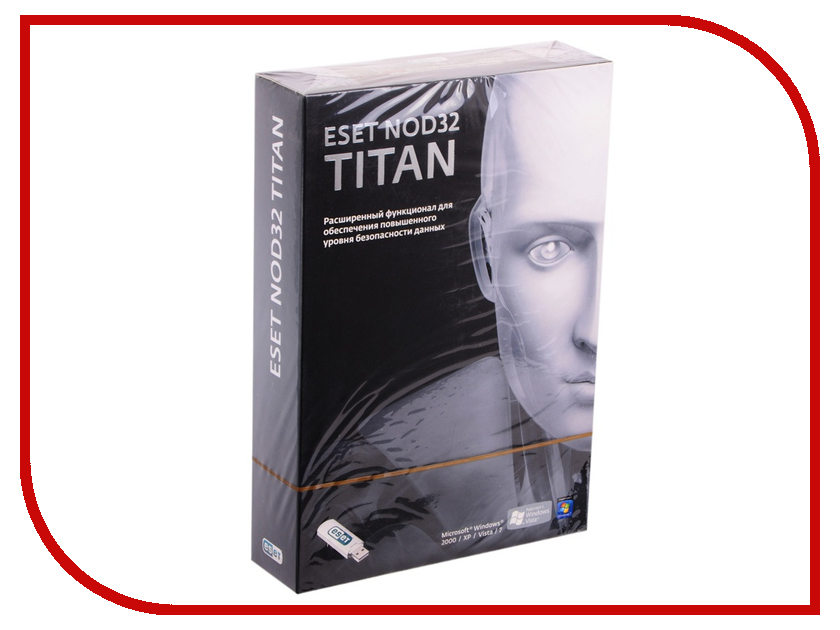 Программное обеспечение ESET NOD32 Titan version 2 3xPC and 1 mobile 1 year NOD32-EST-NS(BOX2)-1-1