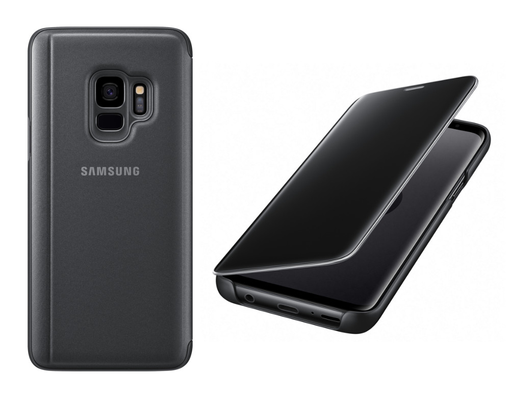 Аксессуар Чехол-книжка Samsung Galaxy S9 Clear View Standing Cover Black EF-ZG960CBEGRU аксессуар чехол книжка samsung galaxy s9 led view cover black ef ng960pbegru