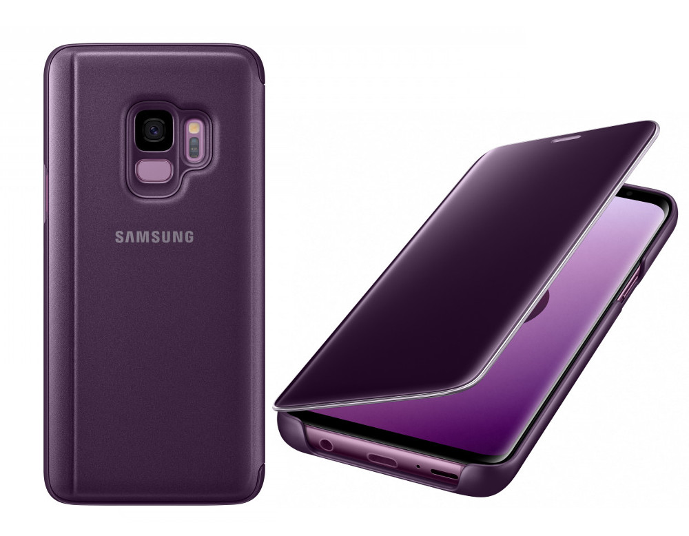 Аксессуар Чехол-книжка Samsung Galaxy S9 Clear View Standing Cover Violet EF-ZG960CVEGRU аксессуар чехол книжка samsung galaxy s9 led view cover black ef ng960pbegru